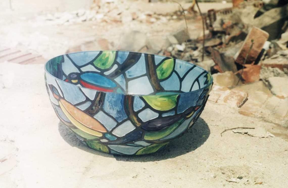 Bowl pastelat (007) diametrul 20 cm - 10 USD